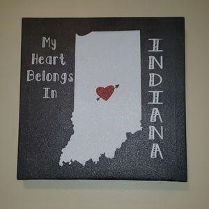 My Heart Belongs In Indiana Wall Art